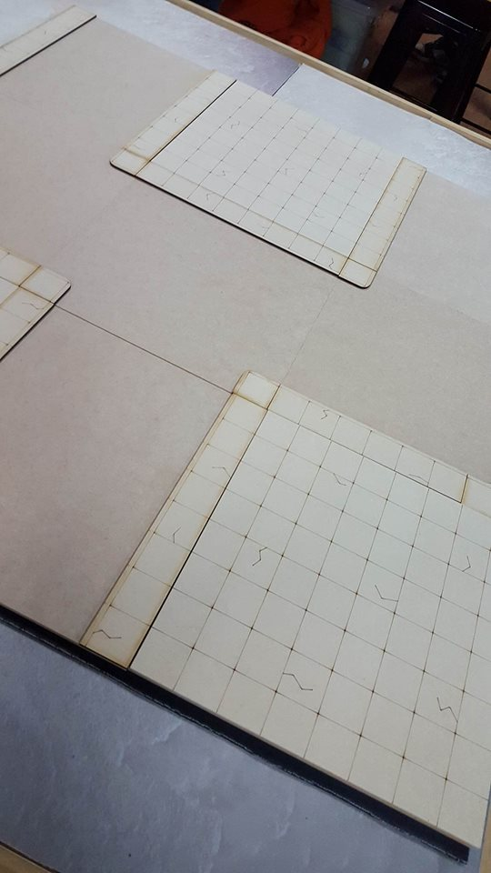 Gaming table tops