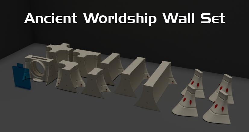 Ancient Worldship STL files